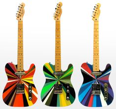 If Its Hip, Its Here: Colorful Hand-Painted Telecaster Guitars & Effects Pedals By MWM X Chiarelli (+ 5 Other Guitar Posts)