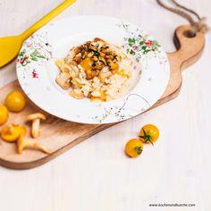 Eierschwammerl Rezepte | Pfifferling Rezepte | Kochen und Küche Risotto, Ethnic Recipes, Food, Cooking Recipes, Meal, Essen, Hoods, Meals, Eten