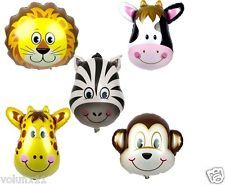 Inflatable Animals Heads Foil Balloons Foil Kids Fun Parties Toys Happy Birthday