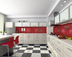 Red Kitchen Backsplash  City Kitchen Tile Backsplash Red Best Kitchen Design Red And Black 2018