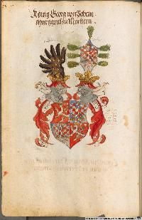 Image 00130 Kaiser Karl, Friedrich Ii, Painting, Image, Art, Coat Of Arms, Roman Emperor, Munich Germany, Family Crest