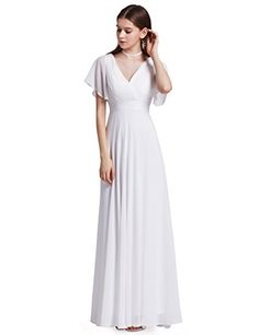 Ever-Pretty Womens Floor Length Formal Mother Of The Brid... https  Modest  White DressEver PrettyPretty WomanSleeve StylesCasual Dresses ... 18fb09cae88d