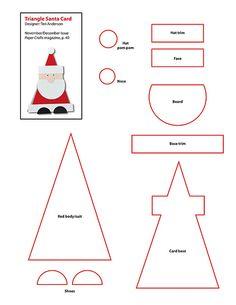 Molde de Cartões de Natal   Pode ser um cartão ou enfeite para pendurar, esses são feitos em papel.   Vou seguir este molde e fazer enfe...