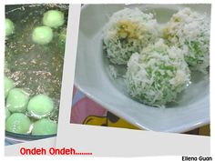 Cuisine Paradise | Singapore Food Blog - Recipes - Food Reviews - Travel: Ondeh Ondeh (Yuan Xiao Jie)