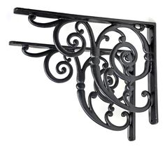 Swirl Bracket - This magnificent bracket is one of the largest in our collection. It's an original Victorian design we found in a disused foundry. Unsurpassable British quality. Available in black or pewter.