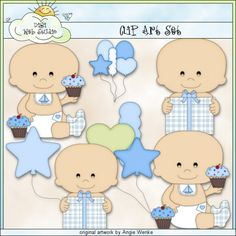 Birthday Baby Boys 1 - Clip Art by Angie Wenke