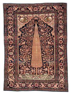Persian Isfahan prayer rug