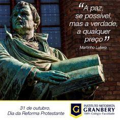 No dia 31 de Outubro de 1517, iniciciava-se a Reforma Protestante por Martinho…