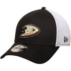 febfd4edb63 Men s New Era Black Anaheim Ducks Fade Classic 39THIRTY Flex Hat