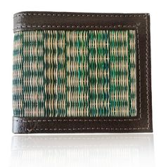 Handmade Wallet made of Korai Grass & Leather.  A great Birthday or Anniversary Gifting idea. $17.99