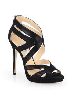 Jimmy Choo - Lang Strappy Patent Leather Sandals - Saks.com