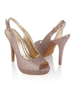 Glittered Slingback Heels for $25.80. So pretty!