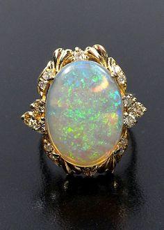 Opal & Diamond Ring   Flickr - Photo Sharing!