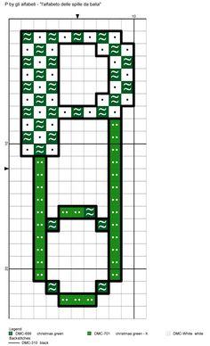 alfabeto delle spille da balia: P