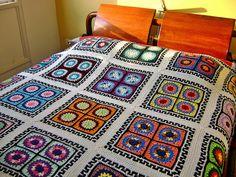 Esse foi para mim - To my bed - Manta - Afghan by Colorido Eclético - por Cristina Vasconcellos, via Flickr
