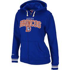 Mitchell & Ness Denver Broncos Women's Full Zip Hooded Sweatshirt - NFLShop.com