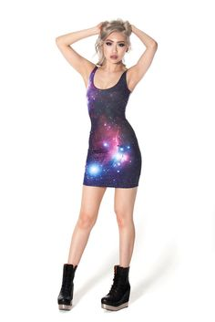 Galaxy Purple Dress | Black Milk Clothing