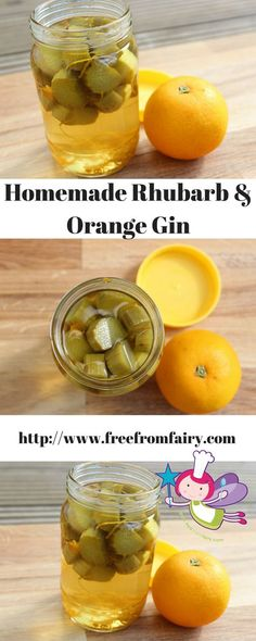 Super easy rhubarb and orange gin could be all yours. Follow my recipe on my blog!