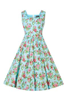 Brand New for 2016! This cute new swing dress features a full circle 1950s style flared skirt, a...