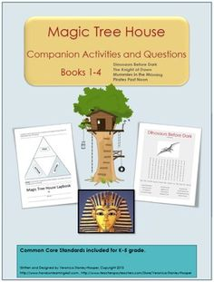 Magic Tree House: Books Activities and Questions Book Club Books, Book 1, Magic Treehouse, Home Learning, Activity Ideas, Kids Education, Small Groups, Literature, Homeschool