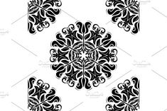 Oriental vector pattern with damask, arabesque and floral elements. Damask Patterns, Arabesque, Vector Pattern, Abstract Backgrounds, Graphic Design, Floral, Cards, Flowers, Maps