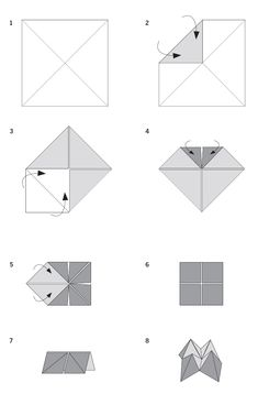 Fortune Teller or Cootie Catcher Origami Craft | KraftyKid