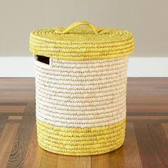 Handmade Lidded Basket - http://www.prosperityshop.com/product/bangladesh-lidded-container-2/