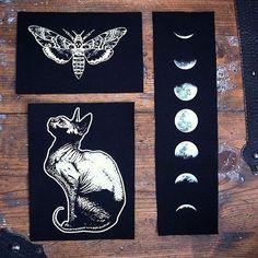 "poisonappleprintshop: "" patches from Poison Apple Printshop "" Punk Patches, Pin And Patches, Grunge, Poison Apples, Glam Rock, Diy Fashion, Art Inspo, Tarot, Illustration"