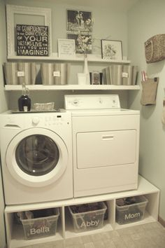 Decoration, Very Small Spaces After Makeover Old Laundry Room Design With  DIY Wood Pedestal Front
