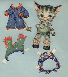 Cats paper dolls 67