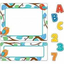 Boho Birds Stickers Value Pack - This contemporary Boho Birds sticker value pack will add sparkle and fun to any classroom! Organize and coordinate folders, storage boxes, shelves, or closet space. Includes five sheets of alphabet letters, one sheet of extra letters, one sheet of numbers 0 to 9, six sheets of small labels, and five sheets of large labels.