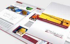 Projeto de criação de folder comercial para a Stahlluz Metalurgia em Curitiba.