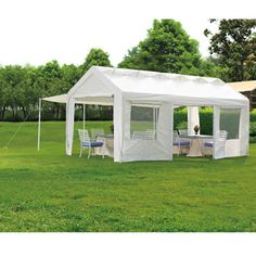 Host the perfect backyard party rain or shine. This 10u0027 x 20u0027  sc 1 st  Pinterest & Aosom 10u0027 x 10u0027 Double-Tier Gazebo Replacement Canopy Top Cover ...
