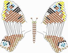 схема бабочки Павлиний глаз   biser.info - всё о бисере и бисерном творчестве