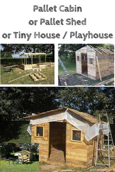Cabin Built out of #Pallets - Pallet Shed or Tiny House - 101 Pallet Ideas