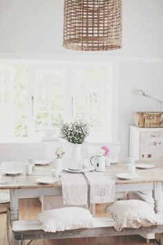 a beach cottage rustic table gets electric
