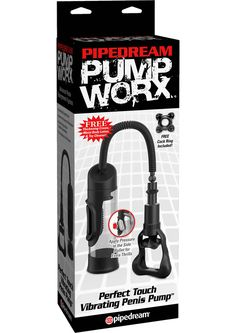 PUMP WORX PERFECT TOUCH VIBE PUMP - Description Get just the right touch of satisfaction with the incredible Perfect Touch Vibrating Pump! This deluxe vibrating penis pump has been carefully crafted to give you maximum suction power and proven results, combined with thrilling vibrations where you want them most! Once the super stretchy TPR donut is placed over your pleasure rod, the plastic suction chamber creates a super strong vacuum action that draws every inch of your penis into the…