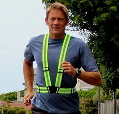 Elastic Reflective Belt Vest/Reflective Running Vest/Cycling Vest/Safety Vest fit over sports gear or outdoor clothing.
