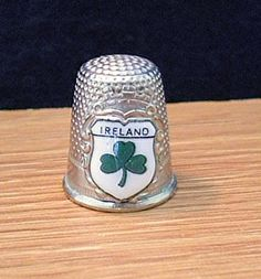Vintage souvenir thimble....I need this to add to my collection for my Irish Heritage