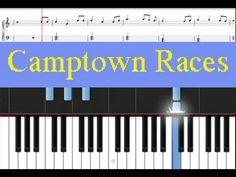 Learn Piano    Camptown Races Free Sheet Music - http://blog.pianoforbeginners.net/uncategorized/learn-piano-camptown-races-free-sheet-music/