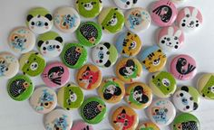 100pcs Animal Button Mixed Wood Button Craft Button Sewing Button Diy Button 2 Holes Button by zqhandcrafts on Etsy