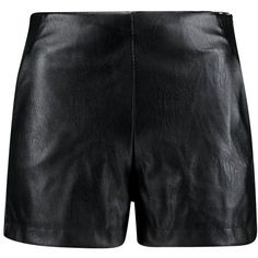 Boohoo Lily High Waisted Leather Look Shorts (€24) ❤ liked on Polyvore featuring shorts, short, mini shorts, hot shorts, high-waisted shorts, high waisted shorts and culottes shorts