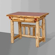 We carry this genuine aromatic red cedar log desk.  Delivery is free to 48 states.  #red #cedar #log #desk