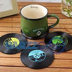 Vinyl Coaster Retro CD Record Drink Coaster Barware Kitchenware  #beer #bartender #cocktail #salboken #beach #mancave #wine #barrescue #weekend #barzz @barzz