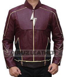 Flash The Real Jay Garrick Jacket presented by TFJ. Made with PU Leather. This jacket is widely appreciated among Flash Series fans. Film Jackets, Cool Jackets, Flash Characters, Custom Leather Jackets, Black Spiderman, Dc Comics, Blazers, Super Hero Costumes, Traditional Fashion