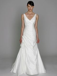 Examples of lovely wedding gowns for busty figures