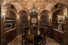8802 Memorial Drive Houston, TX 77024: Photo   Wine Vault Temperature-controlled and richly appointed for both wine storage and elegant, intimate entertaining. Brick groin-vaulted ceiling; antique Italian tile floor; built-in tasting cabinets.