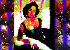 A new Digital Painting with a Pop Art and an Abstract Art theme and what it might look like if Elizabeth Taylor went to visit Andy Warhol at his factory in New York City on his day off. Ben Stein, Fine Art Prints, Framed Prints, Number 9, Art Themes, Elizabeth Taylor, Andy Warhol, Art World, Wood Print