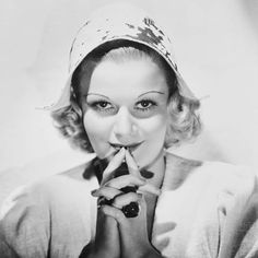 """I was not a born actress. No one knows it better than I. If I had any latent talent, I have had to work hard, listen carefully, do things over and over and then over again in order to bring it out,"""" Jean Harlow."""