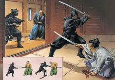 Ninja on campaign: Entering a daimyo's mansion for an assasination attempt